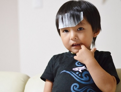 インフルエンザで熱が出た子供