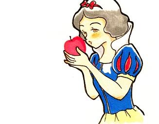 リンゴをたべる白雪姫
