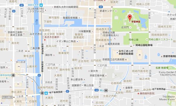平安神宮のGooglemap
